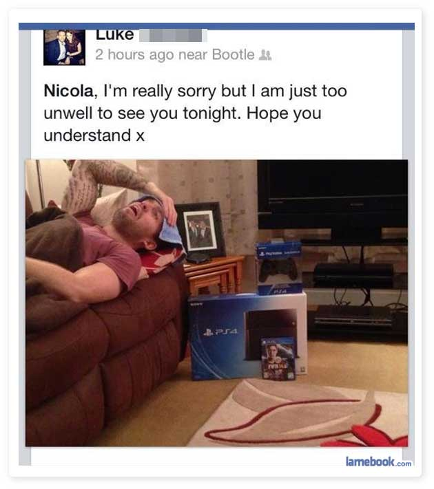 Funny Facebook Status About Flu Get Funny Quote Says