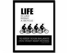 Albert Einstein Zitate Leben Ist Wie Fahrradfahren Das Leben Spruche Zitate