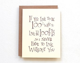 If You Live To Be One Hundred Winnie The Pooh Sentimental Quote Card Cute Marriage