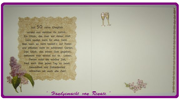 Handgemacht Von Renate Gluck Und Segenswunsche Zur Goldenen Hochzeit