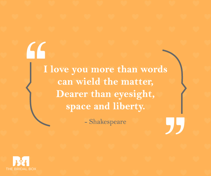 Inspirational Love Quotes For Him Shakespeare