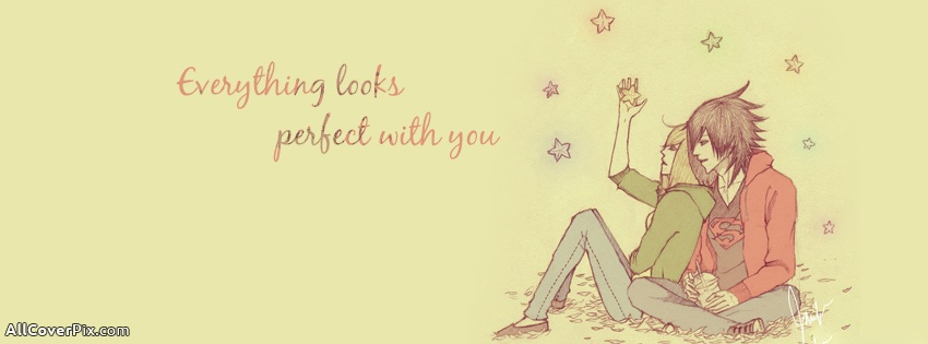 Cute Love Quotes Timeline Cover Perfect Anime Couple Cover P Os