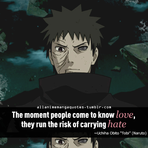 Naruto Quote And Uchiha Obito Image