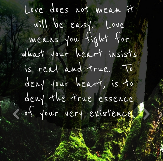 Love Is Not Easy Quote Of Romance
