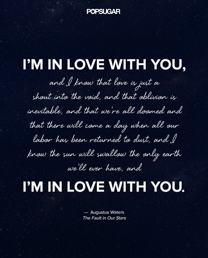 Stars Love Quotes Magnificent Love Quotes For Her Augustus Waters The Fault In Our Stars