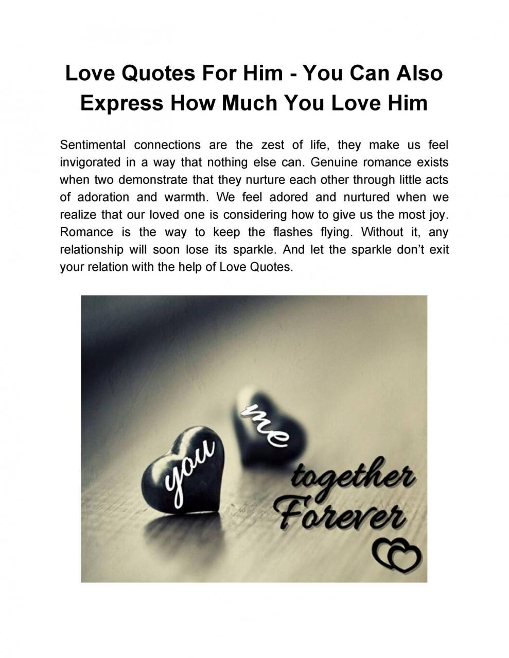 Love Quotes For Him You Can Also Express How Much You Love Him Pdf Docdroid
