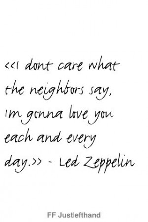 Love Quotes Led Zeppelin Valentine Day