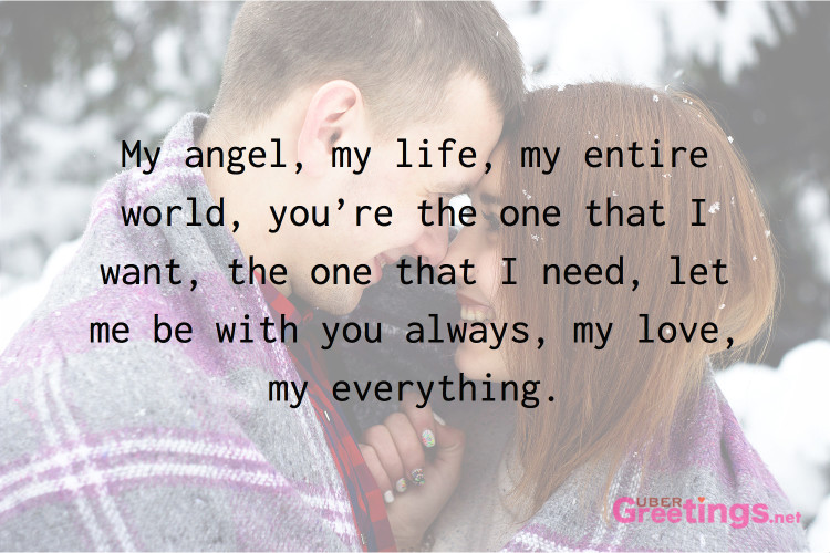 My Angel Love Quotes For Him