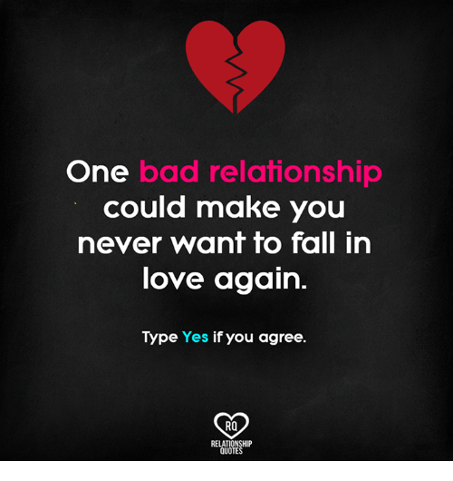 Bad Fall And Love One Bad Relationship Could Make You Never Want To