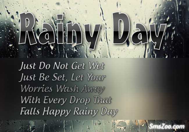 Rainy Day Sms Quotes