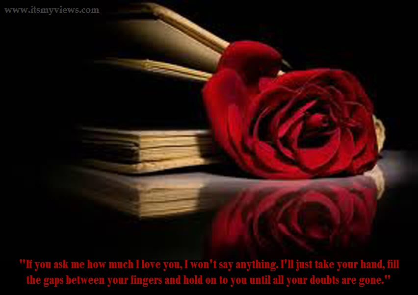 Latest Most Beautiful Red Rose Pictures With Romantic Love Quotes  Itsmyviews Com