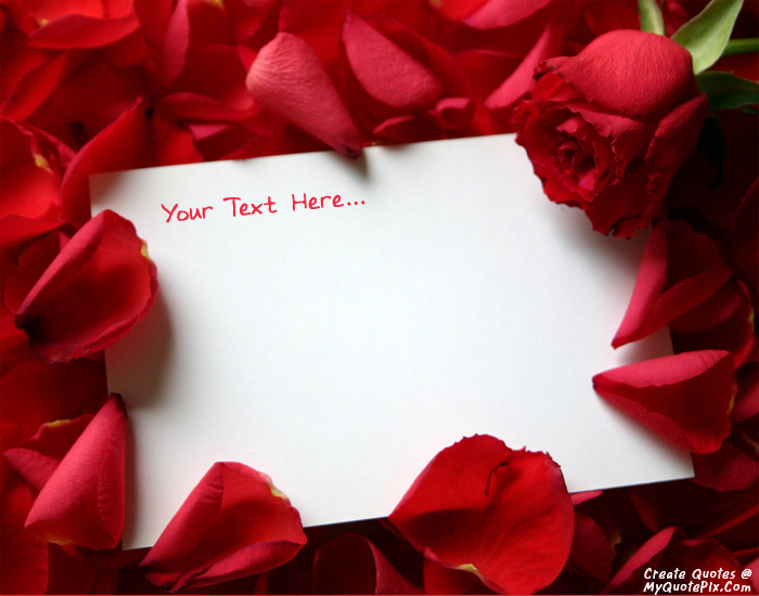Design Your Own Names Of Red Roses Love Note