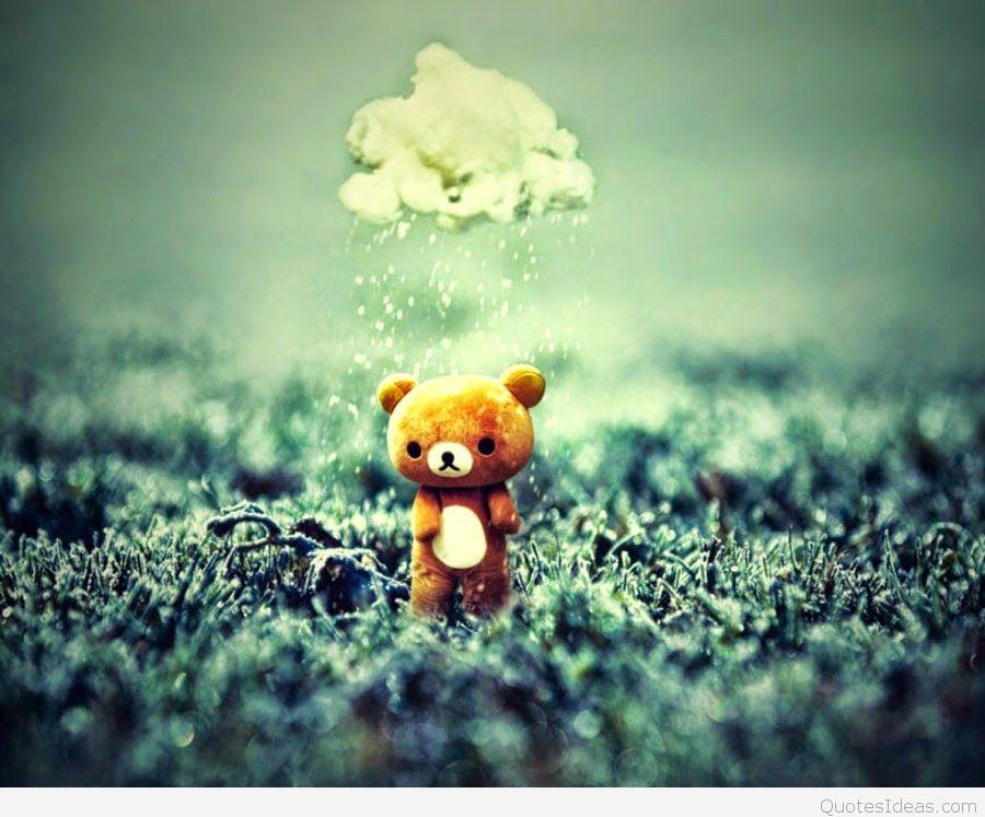 Sad Teddy Bear Love Failure Walking Alone In Fbbfdcadfea