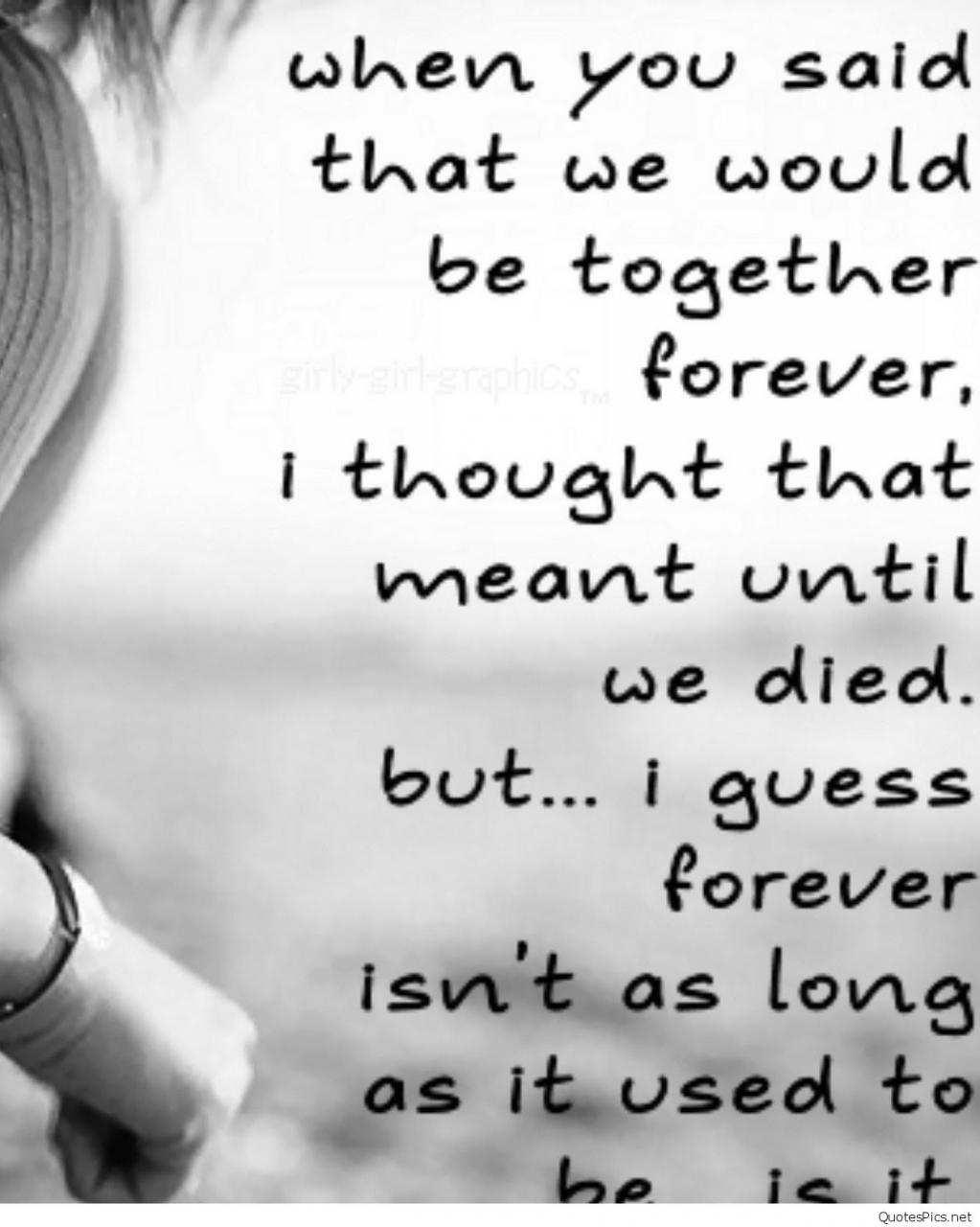 Sad Love Quotes That Make You Cry For