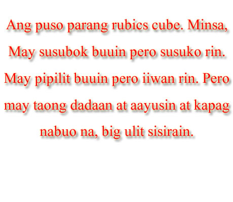 Funny Love Quotes Tagalog