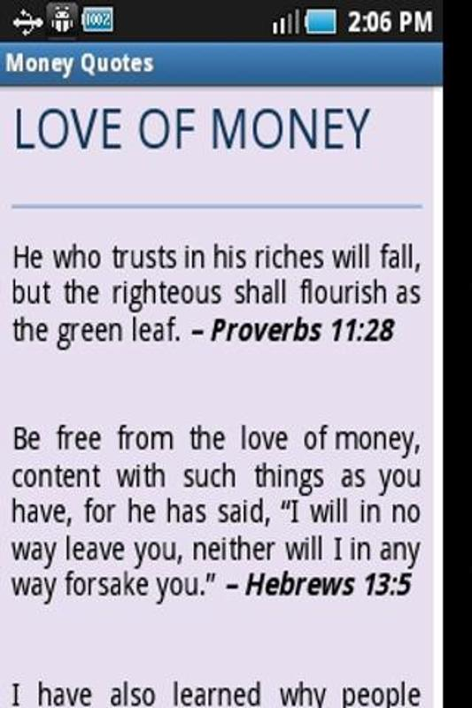 Money Quotes From Bible Verses Apk Screens