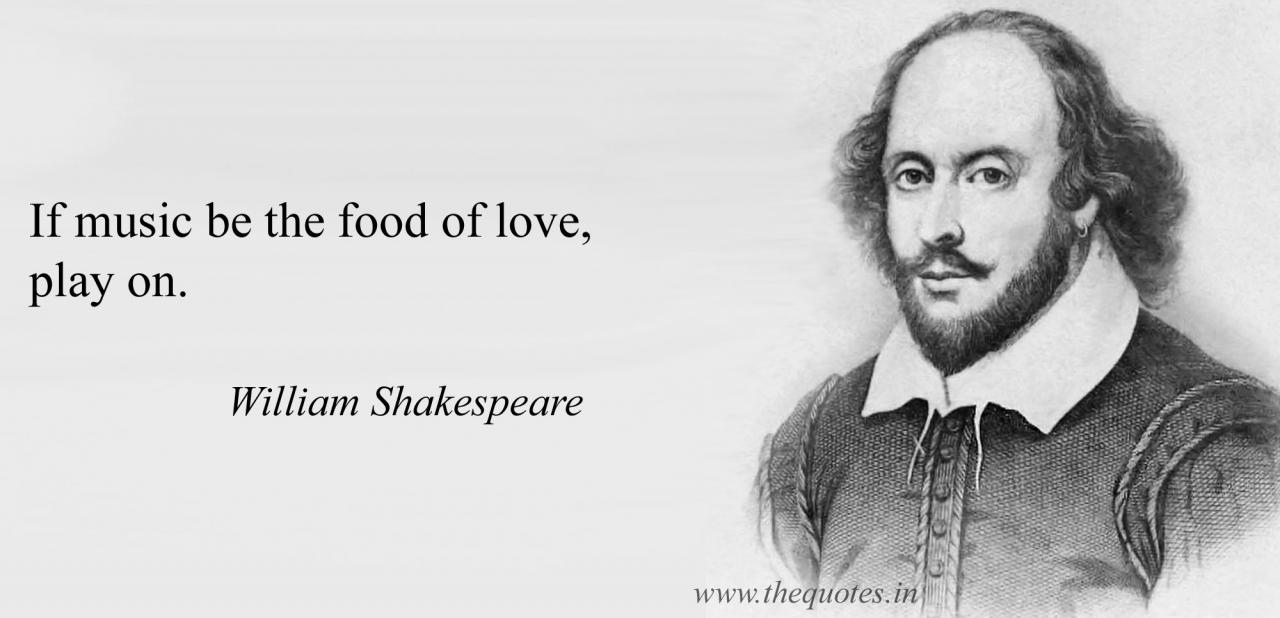 If Music Be The Food Of Love Play On William Shakespeare