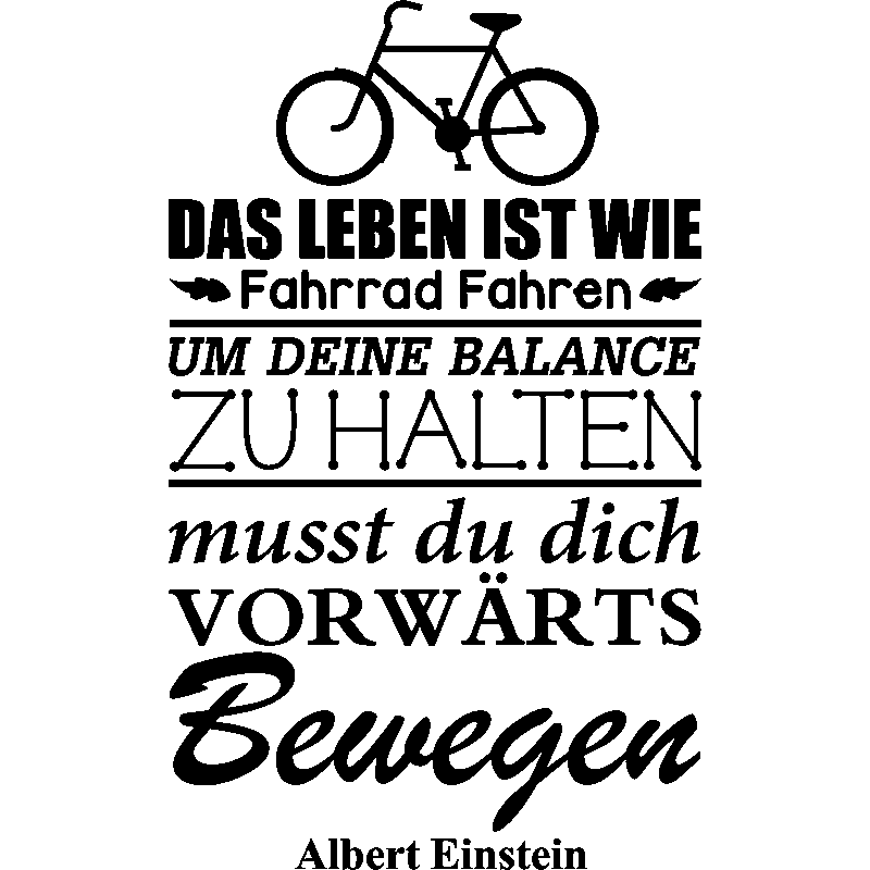 Sticker Das Leben Ist Wie Albert Einstein Stickers Citations Allemand Ambiance Sticker