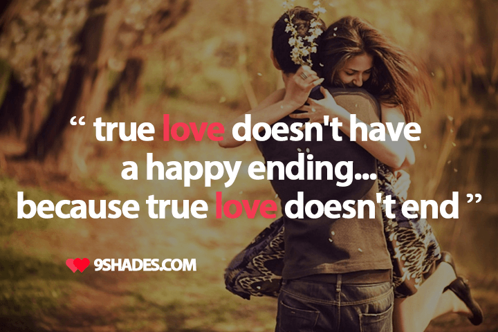 True Love Doesnt End Quote Couple Hugging