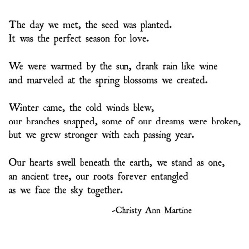 Growing Together In Love Poem