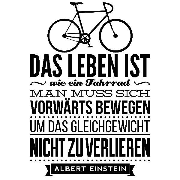Das Leben Ist Wie Ein Fahrrad