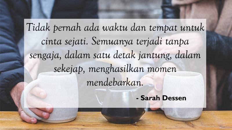 Kata Kata Cinta Bijak Romantis Sarah Dessen