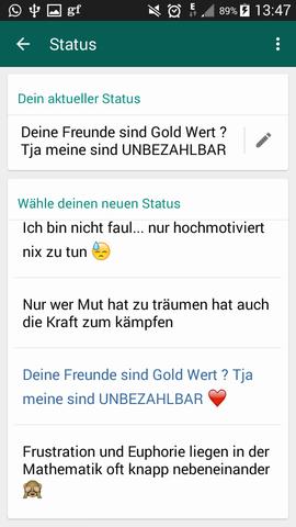 Was Ist Euer Whatss App Status Computer Handy Whatsapp