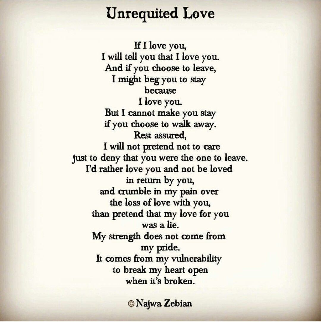 Unrequited Love Najwa Zebian