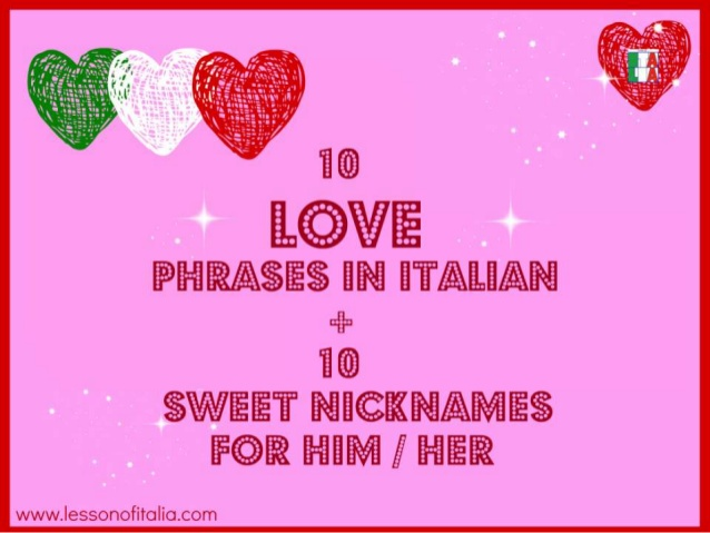 Italian Love Quotes Awesome Love Phrases  Nicknames In Italian