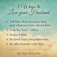 Ways To Love Your Husband