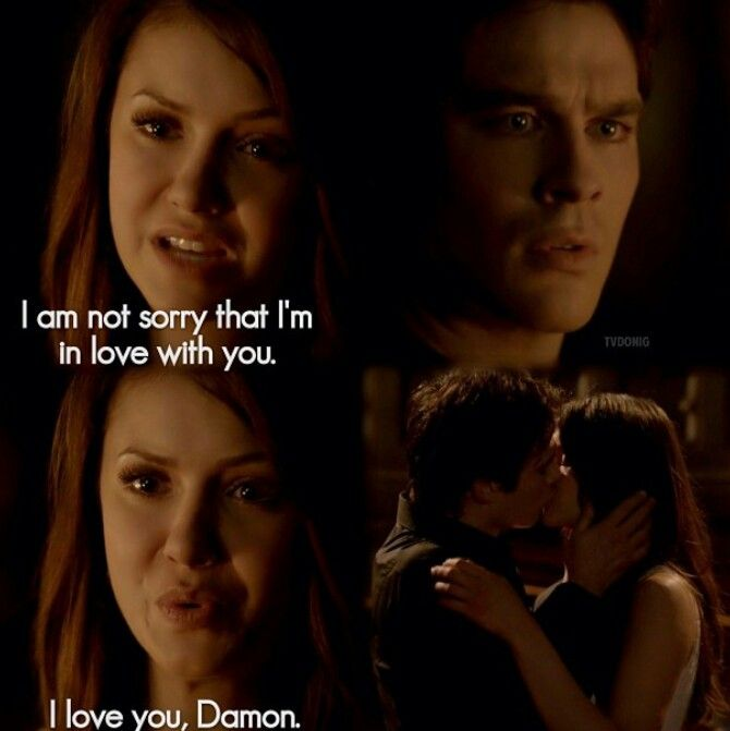 The Vampire Diaries Damon And Elena