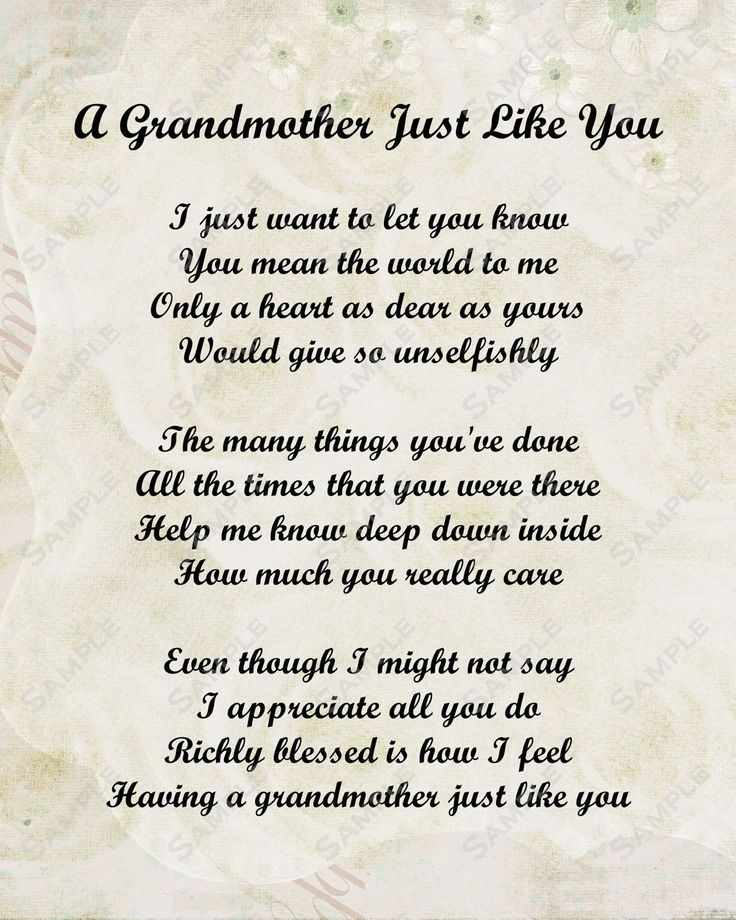 Poems For Grandma Turning  Google Search More