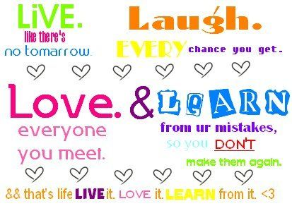 Live Laugh Love Learn