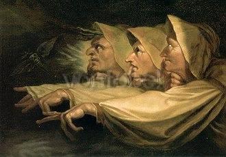 Fussli Johann Heinrich Von Drei Hexen Shakespeare Macbeth Kunstpostkarte