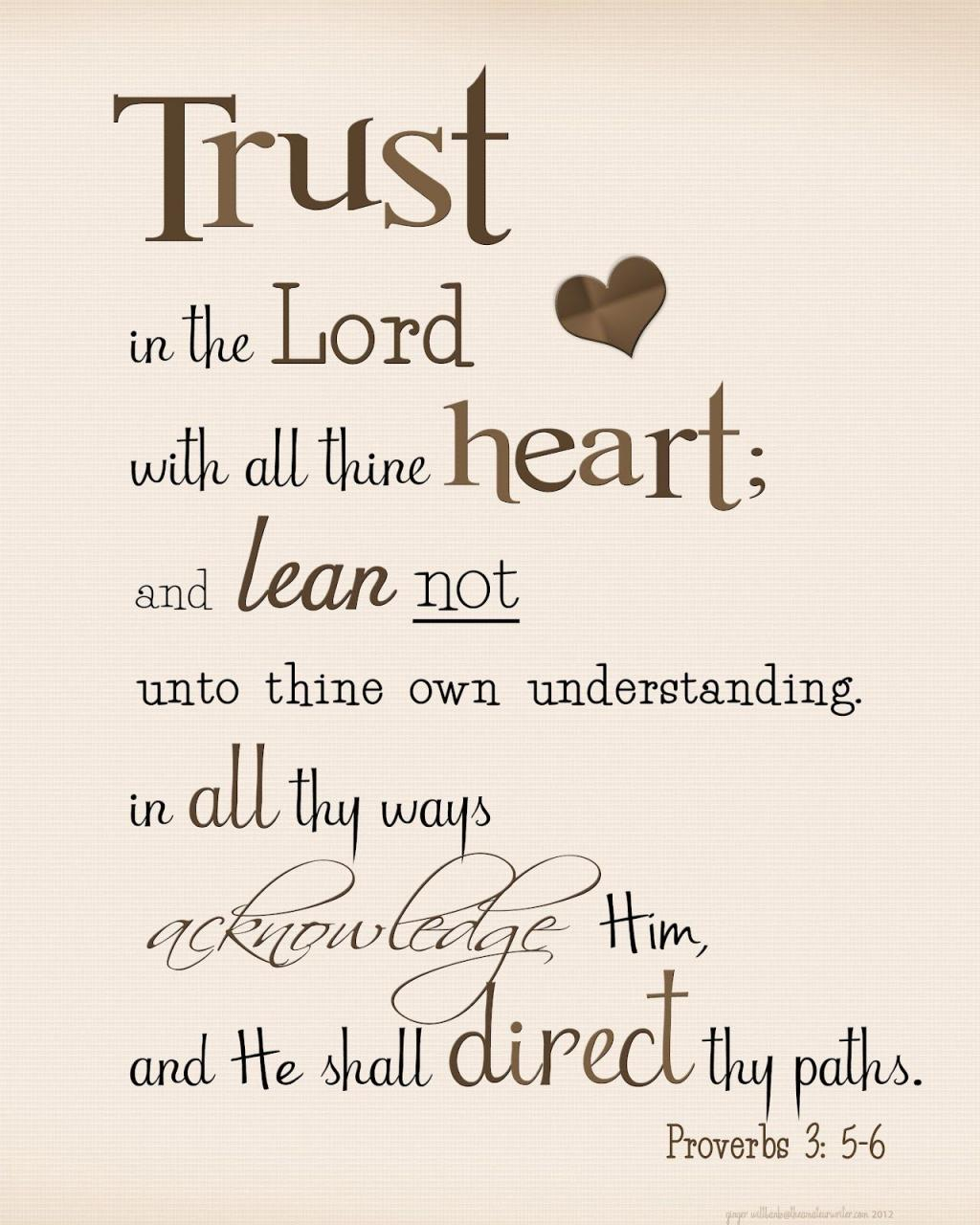 Proverbs   Trust In The Lord With All Your Heart And