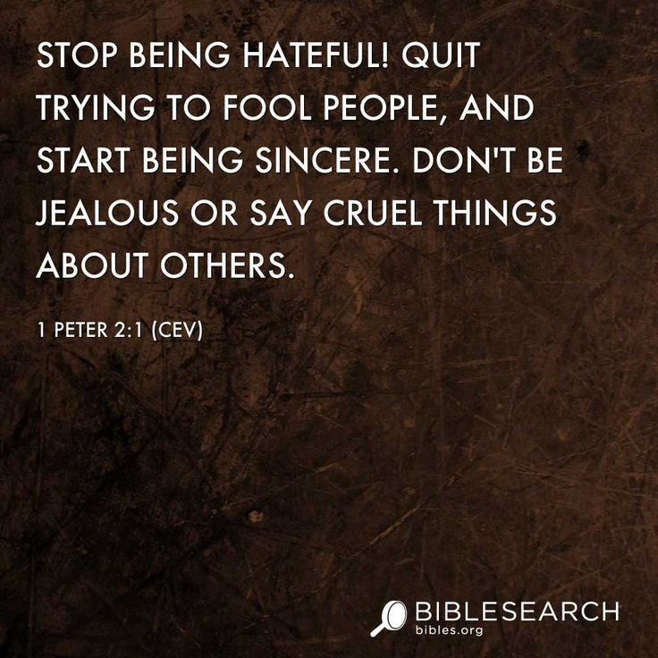 Scripture View Of  Contemporary English Version A Living Stone And A Holy Nation Stop Beingful Quit Trying To Fool People And Start Being