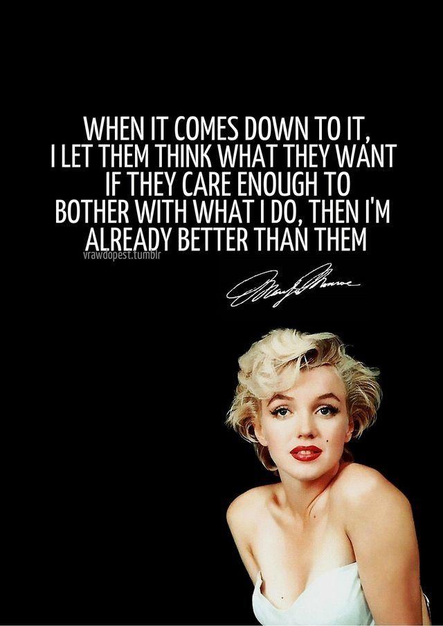 Pin Von  D  D A D E D  D A D  D   D  D A D  D A D  D  Auf Marilyn Monroe Pinterest Gute Spruche Zitat Und Frau