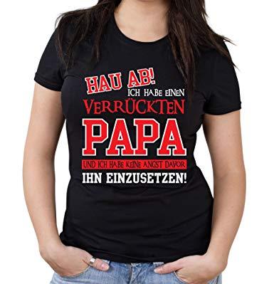 Verruckter Papa Girlie Shirt Geburtstag Geschenk Geschenkidee Spruche Zitate Kostum