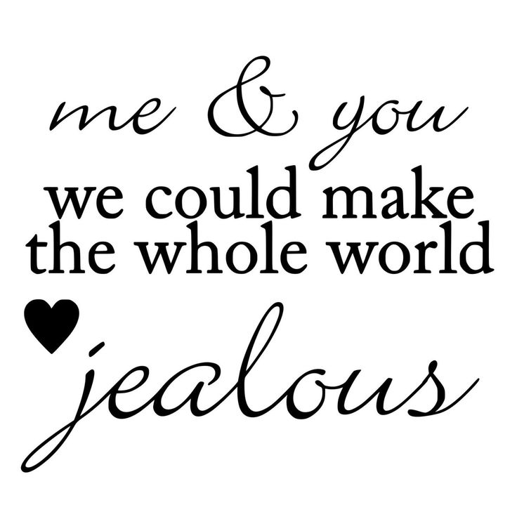 Me And You Could Make The Whole World Jealous Die Cut Decal Car Window Wall Per Phone Laptop Our Love For Each Is Stronger Then Any Evil Power