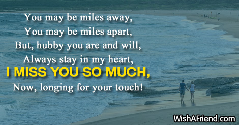 Missing You Messages For Husband You May Be Miles Away