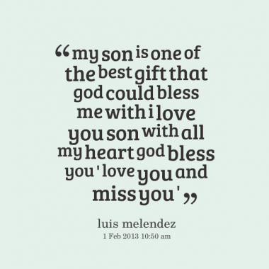Miss My Son Quotes Love You Son Quotes Http Inspirably Com
