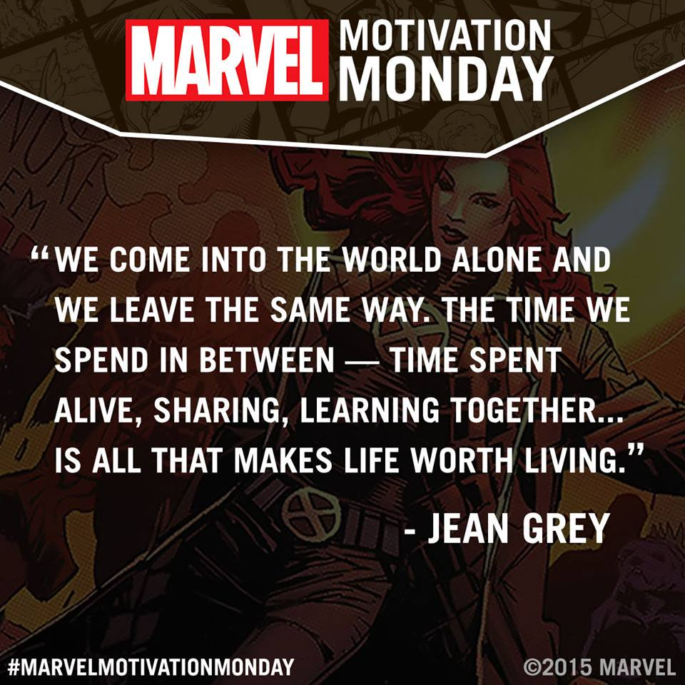 Showcaseus On Twitter Loving Marvels Motivation Monday Quote From Jean Grey Check Out Marvelmotivationmonday Http T Co Cqsqdqg