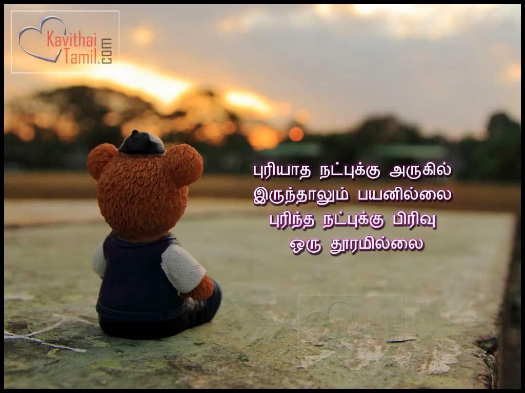 Best Tamil Quotes About Friendshippuriyatha Natpukku Arukil Irunthalum Payanillai Purintha Natpukku Pirivu Oru Thooramillai
