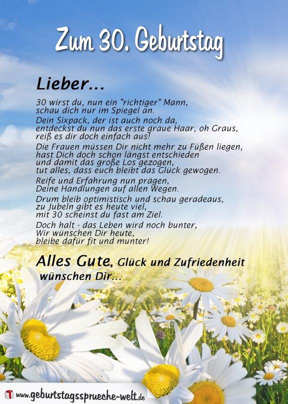 Gedicht Zum  Geburtstag Fur Ihn Geburtstagsspruche Welt