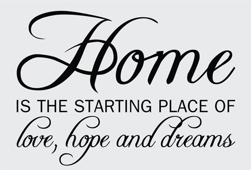 Home Love Hope Home Wall Art Decal Opt