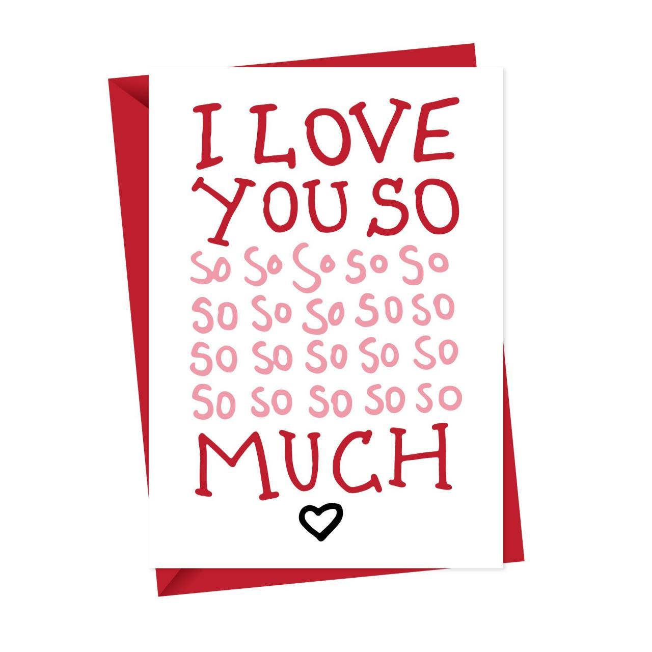 I Love You So So Much Greeting Card Jpg