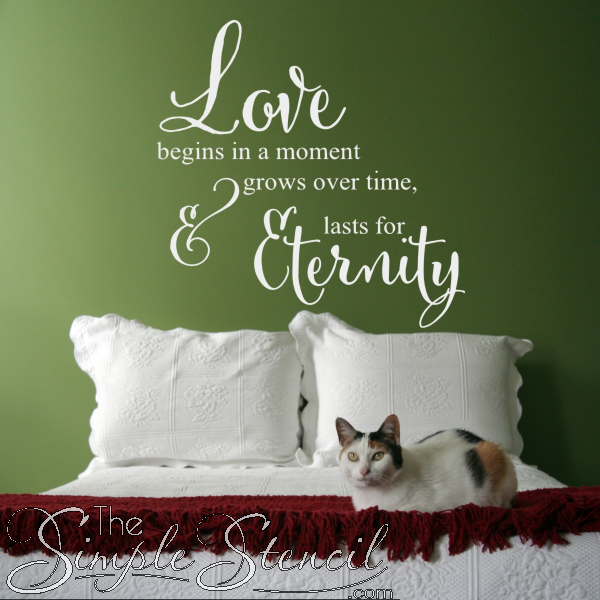 A Collection Of Romantic Love Quotes That Are Popular Wall Lettering Designs For The Master Bedroom Wedding P O Wall Wedding Reception Decor