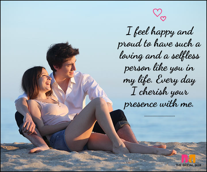 Love Sms For Him I Cherish Your Presence
