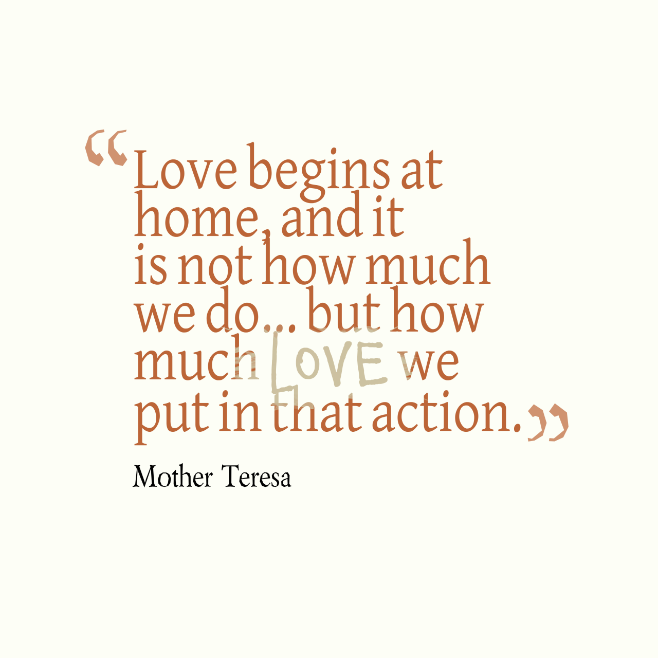 Mother Teresa Quote About Home