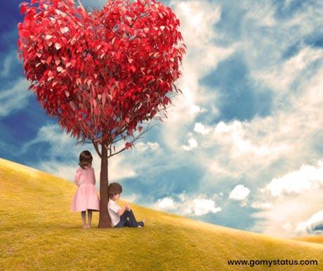 Heart Tree Cute Couple Whatsapp Dp